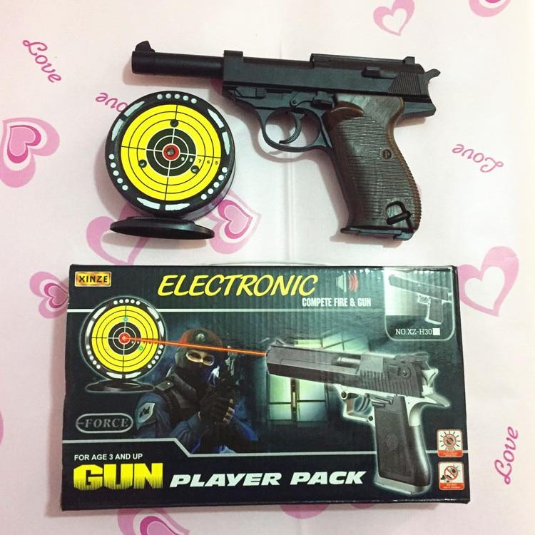 Target Toy Guns : Kid s laser target practice gun plastic toy pistol