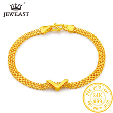 JLZB 24K Pure Gold Bracelet Real 999 Solid Gold Bangle Upscale Beautiful  Romantic Trendy Classic Jewelry Hot Sell New 2019 цены онлайн