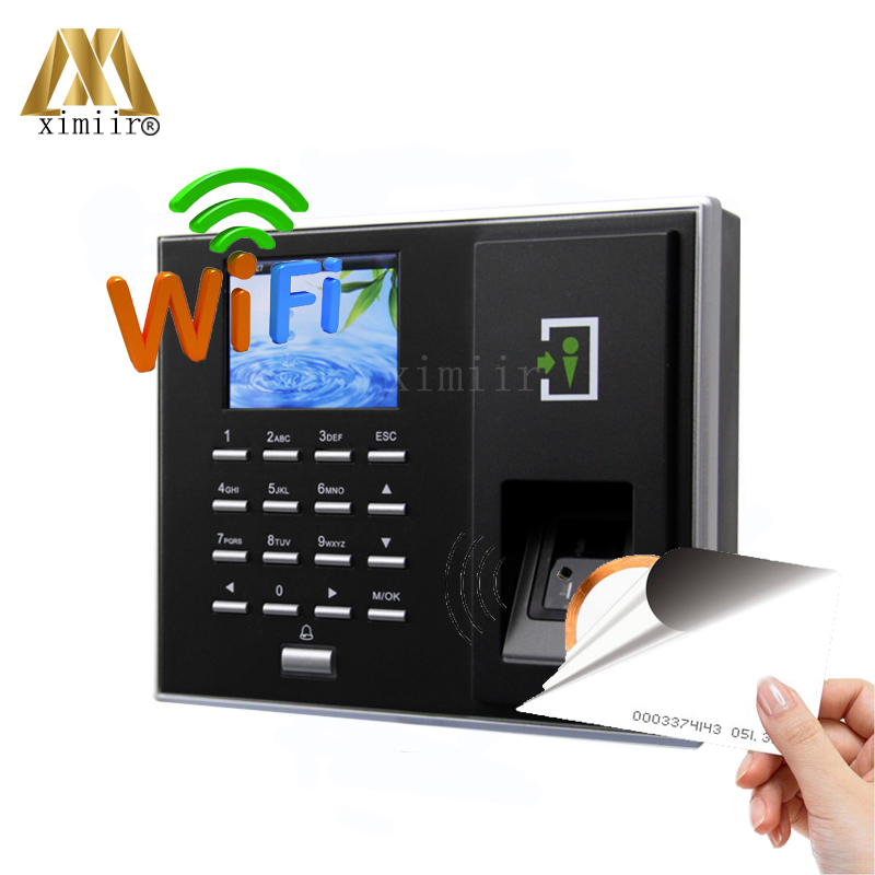 ZK F2S Biometric Fingerprint Access Control System Smart Near Card Reader WiFi And 125KHZ RFID Card zk tf1700 ip65 waterproof biometric fingerprint access control system 125khz rfid card access controller with rj45 communication