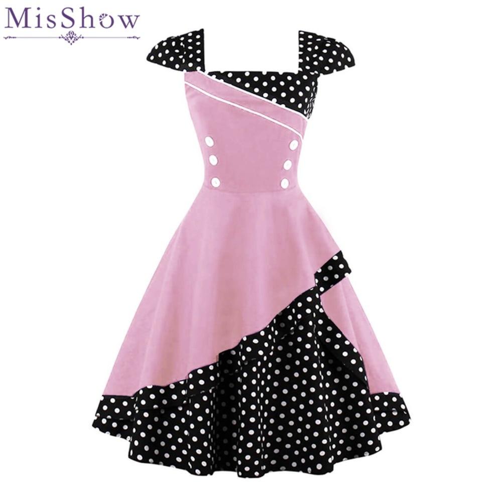 MisShow 2017 Frauen Sommer Plus Größe Vintage Kleid Audrey Hepburn ...