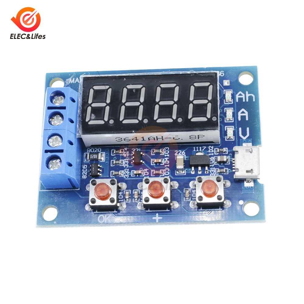 قوة بطارية قدرة فاحص LED رقميّ ZB2L3 المصغّر usb ليثيوم أيون الليثيوم 18650 خارجي تحميل بطارية تفريغ إختبار محلل