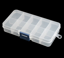 Hot!Clear Plastic Storage Stock Case Box for Barrette Bead Jewellery Findings Nail