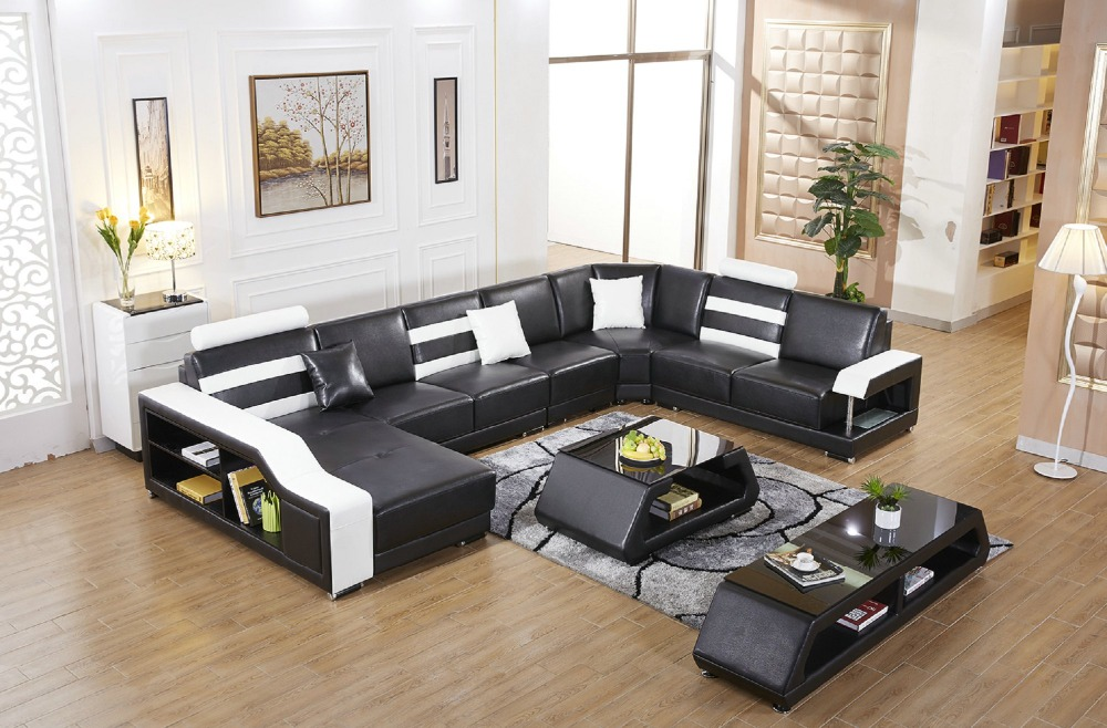 2016 Sale Sofas For Living Room Armchair Chaise Home Furniture European Style Genuine Leather Sofa