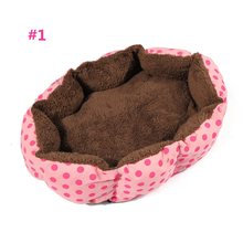 4 Colors Soft Fleece Kennel Pet Dog Puppy Cat Warm Bed House Plush Cozy Nest Mat Pad Split Pet Products Favors Accessories