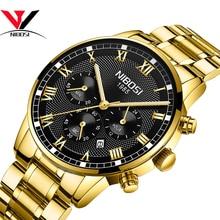 Relogio Masculino NIBOSI Mens Watches 최고 브랜드 럭셔리 방수 스테인레스 스틸 남성 시계 드레스 유명 비즈니스 시계 Men2018
