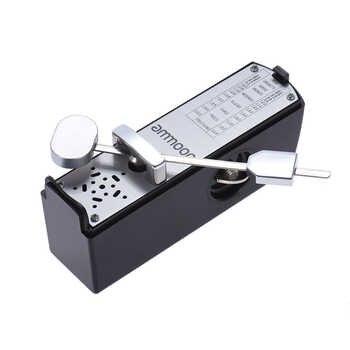 ammoon Portable Mini Mechanical Metronome Universal Metronome 11cm Height for Piano Guitar Violin Ukulele Chinese Zither