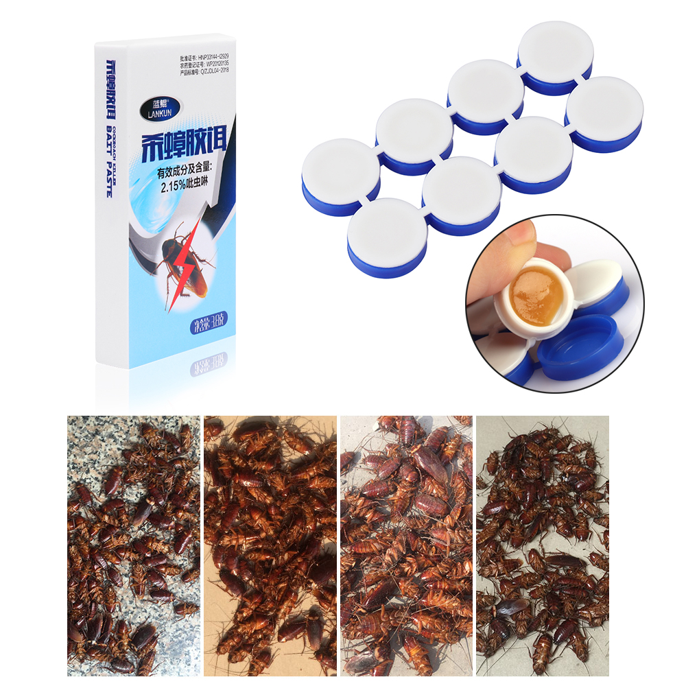8Pcs/box Hot Simple Effective Convenient Kill Cockroach Products From Cockroaches Cockroach Repellent Infection Kill Eradicate