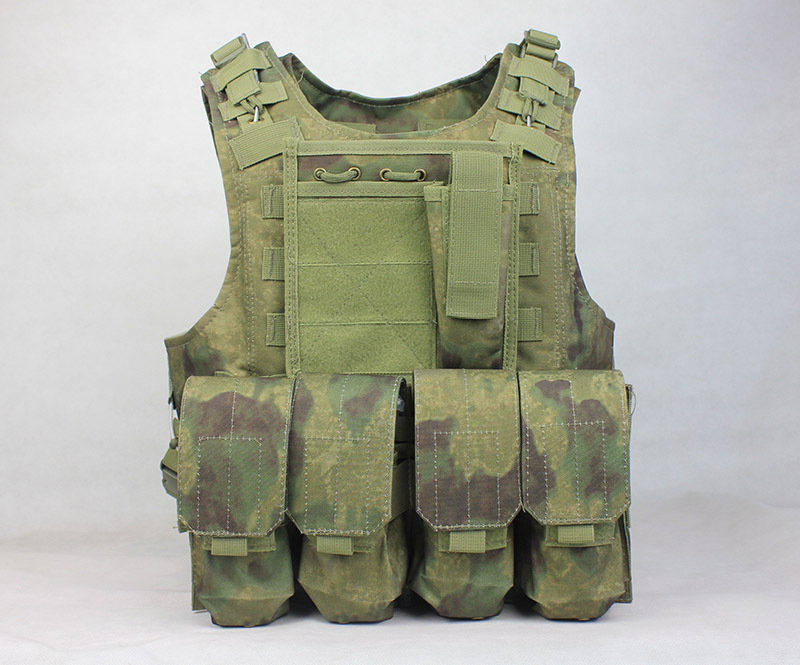free shipping Molle Combat Strike Plate Carrier Vest steel wire vest A tacs FG tactical vest