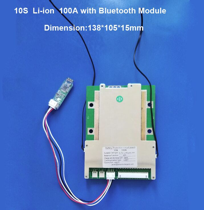 Bluetooth smart BMS with 100A constant current suitable for 10S 36V 11S 12S 13S 48V 14S
