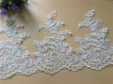 9Yards Delicate Sewing Craft Floral Fabric Flower Venise Venice Wedding Lace Trim Applique Free Shipping For Cloth