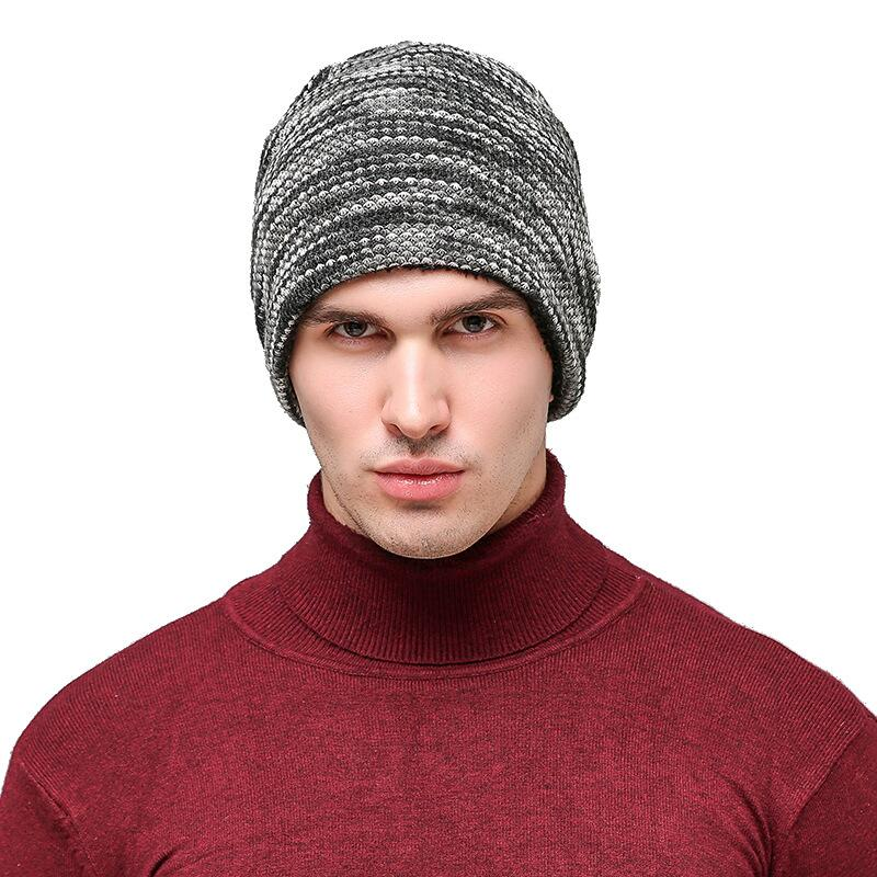 oZyc Male Cap Men Beanie Caps Boys Winter Hats For Men Knitted Beanies Hat Stripes Gorra Pure Color Bonnet Casquette Bone Gorro restaurant call service bell table bell 6 watch receiver with 30 pager button free shipping