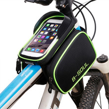 "6.2 in"" Waterproof Cycling Bike Bicycle Bag Saddle Tube Bag Riding Bike Accessories Bicycle Front Tube Pack For Mobile Phone"