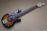 Top Quality Black Music Man StingRay 5 Strings Electric Bass Guitar With Initiative To Pickups Bass