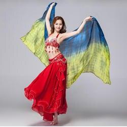 Этап реквизит для представления Tie Dye легкая текстура 100% шелковый шарф для женщин аксессуары для танцев Шелковый Вуаль танец живота