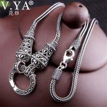 099b2cd3a336 V YA tailandesa de plata collar de cadena larga de para las mujeres 925 de  marcasita de plata esterlina Colgante de Piedra colla.