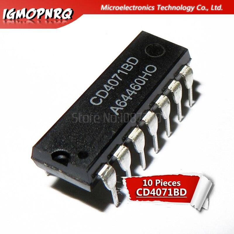 10PCS CD4071BE DIP14 CD4071 DIP 4071BE DIP-14 New and Original IC