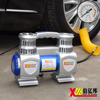 XINYIBANG Double Cylinder Car Air Compressor Pump With LED Light DC12V Portable Air Inflator Powerful Motor For Heavy Duty Auto