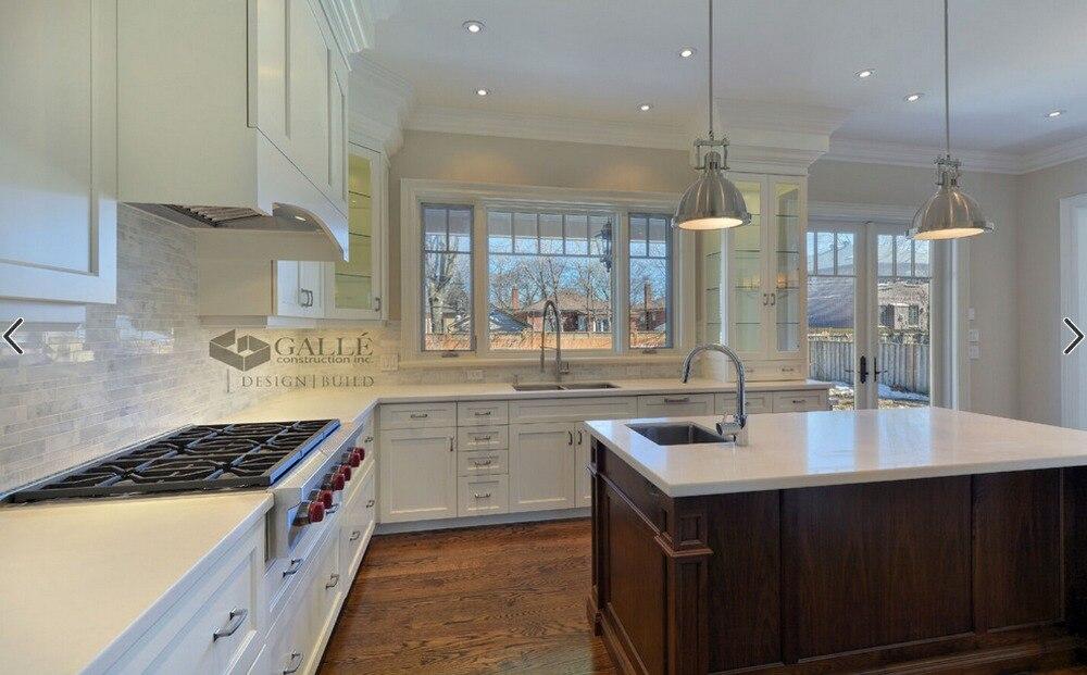 ventas calientes precio barato gabinetes de cocina de madera maciza muebles de cocina tradicional