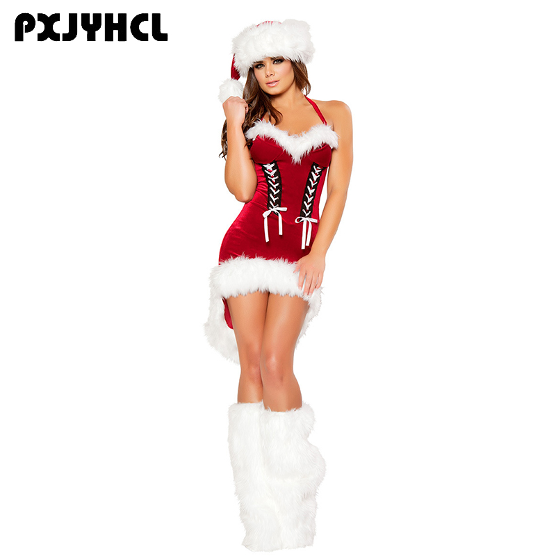 0c2fb5538d7d Detail Feedback Questions about Christmas New Year Costume For Women Red  Sexy Dress Adult Female Fancy Cosplay Dresses+Boot+Hat on Aliexpress.com |  alibaba ...