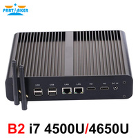 Partaker Core i7 4500U Mini PC Windows 10 with dual HDMI dual display port mini HTPC mini computer Linux i7 4K TV box pc