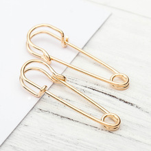 ZCHLGR 2019 Hot Selling New PUNK Rock Brief Style Gold color Safety Pin Shape paved cz Stud Earring For Women Men delicate daint