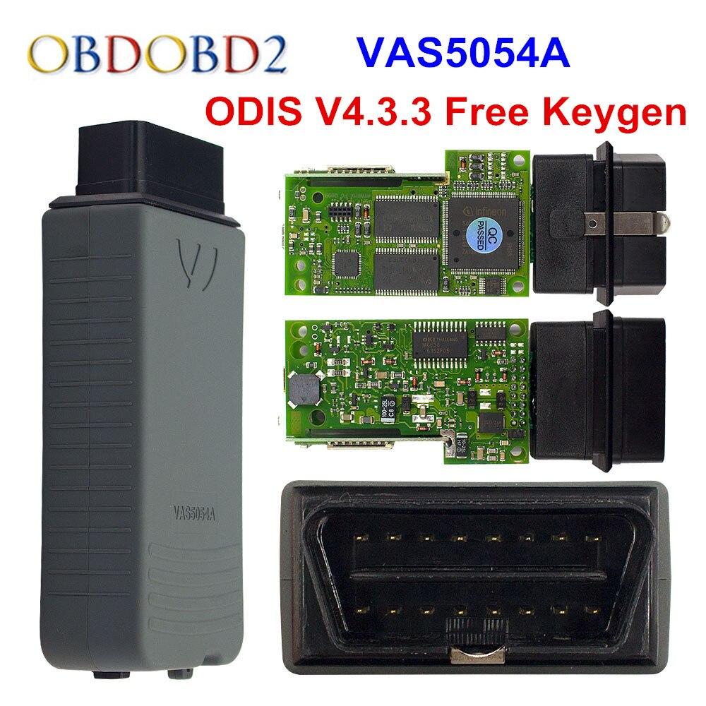 A + + Qualité VAS5054A OKI Plein Puce Keygen VAS5054 D'origine ODIS V4.3.3 AMB2300 VAS 5054A 4.3.3 Soutien UDS Protocole Livraison le bateau