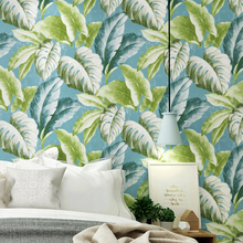 Nordic Banana Leaf Wall Papers Home Improvement Mediterranean Wallpapers for Living Room Sofa Background Walls Papel Contact