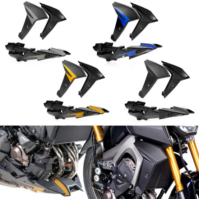 Bellypan Engine Spoil W Radiator Side Frame Body Fairing For 2017 2016 Yamaha Fz