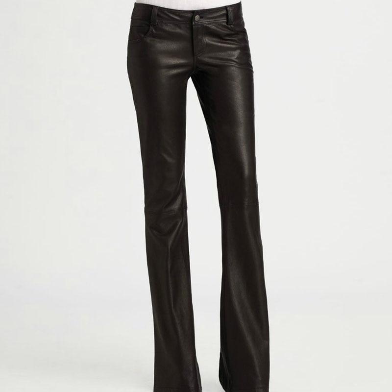 Pour Automne Lavé Formelle Femmes Luxe Pu De Noir Top Black En Cuir Pantalon Slim Wrap Flare Long Femme Fitness uOPkXZi