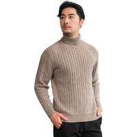 S XL Male Slim Fashion Cashmere Sweater Men Winter Causal Coat Vintage Outwear Soft And Warm Sweaters Solid Turtleneck Knitwear