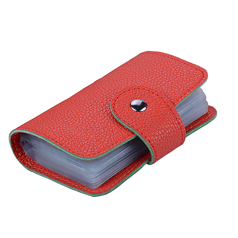 Card & Id Holders 100% Quality Fashion 24 Slots 7 Colors Patent Leather Strap Buckle Hasp Business Vip Id Holds Bank Package Credit Card Holder Free Shipping Coin Purses & Holders