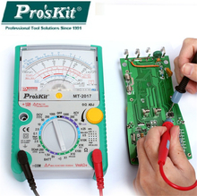 Pro'skit MT-2017 Analog Multimeter Safety Standard Professional Ohm Test Meter DC AC Voltage Current Resistance Analog Multimete