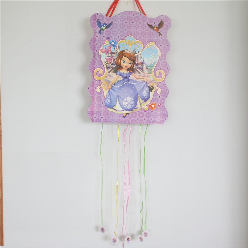 1pcs\lot Sofia Princess Kids Favors Cartoon Theme Paper Pinatas Baby Shower  Happy Birthday Party