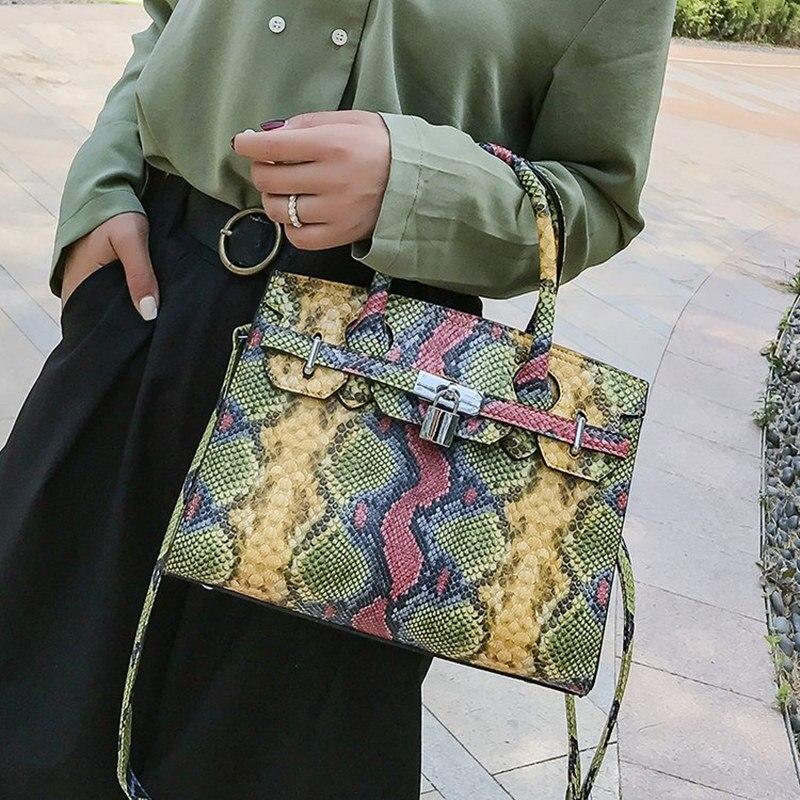 Serpent mode dames grand sac de luxe sacs à main Designer Europe et amérique rétro 2019 été nouveau sac à bandoulière