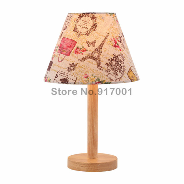 Nordic Creative Wooden Table Lamps Bedside Modern Textile Children S Lighting Fixture Free Shipping