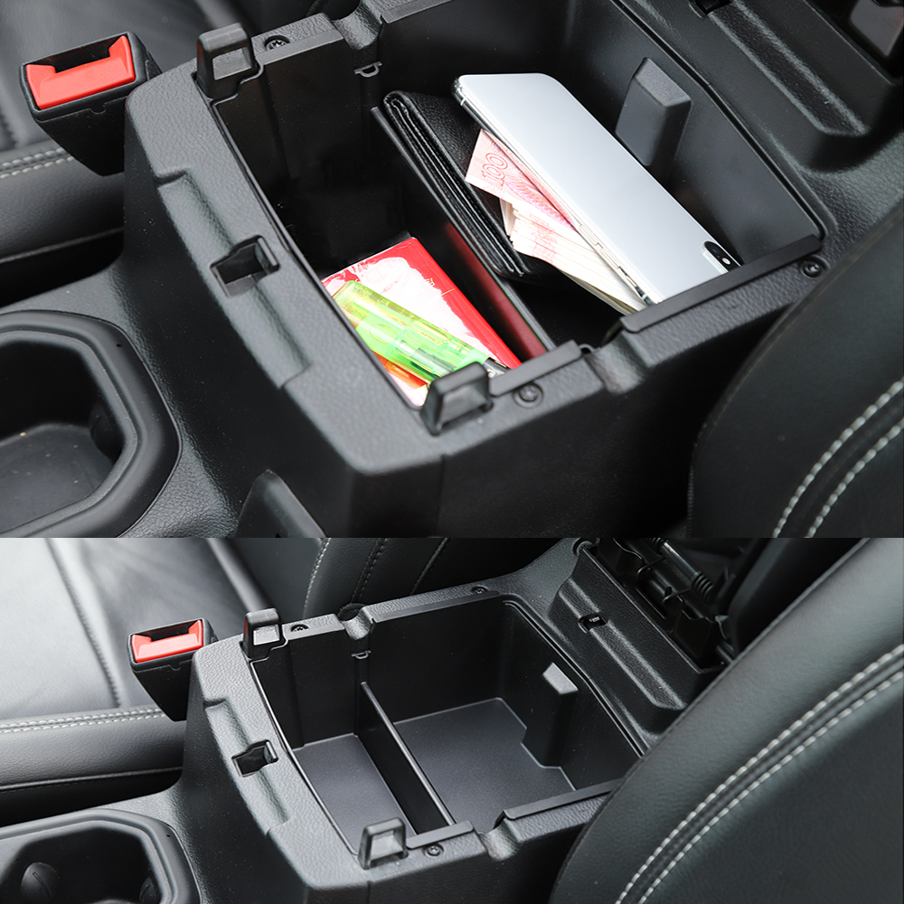 Center Console Organizer Tray Armrest Storage Box Fit for Jeep Wrangler JL 2018-2019 Auto Accessories(China)