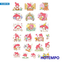 Anime Lovely Pink Melody Cute Stickers for Girl Children Kids Gift DIY Letter Diary Scrapbooking Stationery Pegatinas