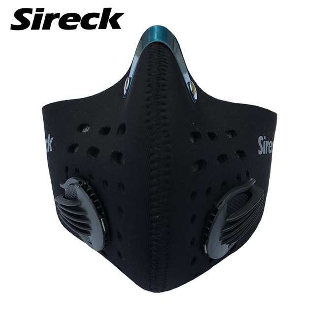 Sireck Cycling Mask Anti Pollution Neoprene Training Mask 2 Colors Half  Face Carbon Bike Bicycle Running Mask With Filter 8c58ad74b742