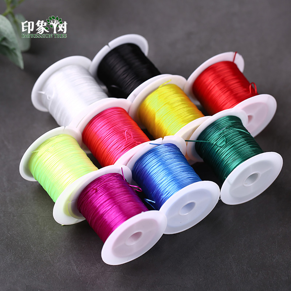10m/Spool 1mm Crystal Beading Stretch Cord Elastic Transparent Wire/Cord/String/Thread Necklace Bracelet Jewelry DIY Making 407