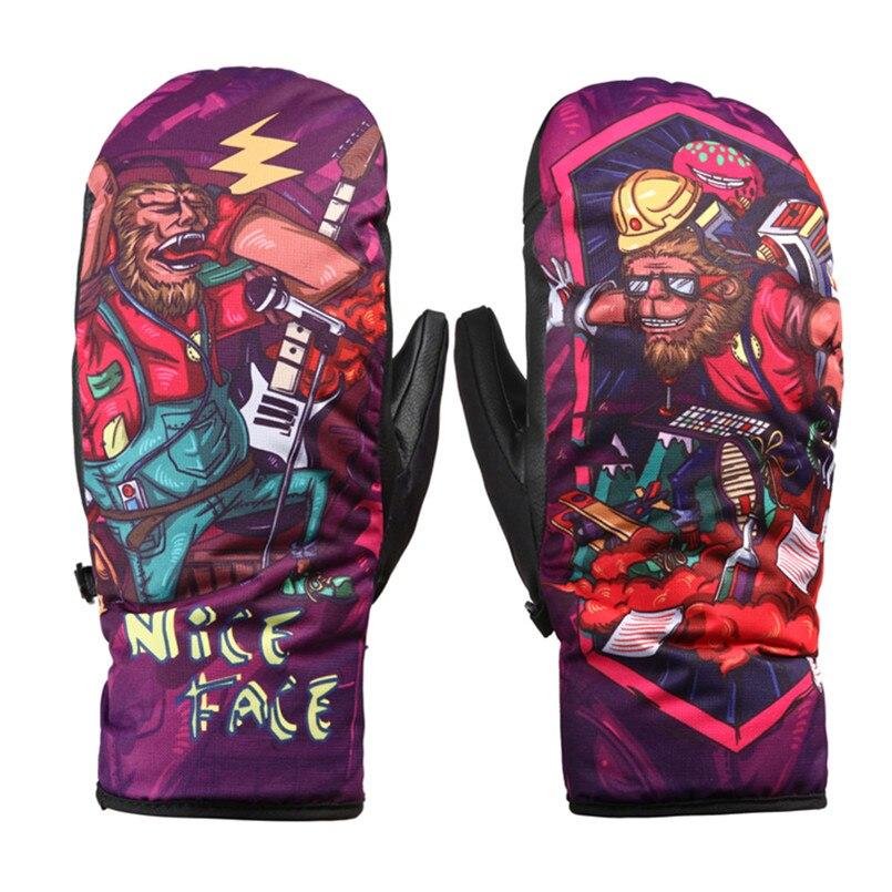 2018 Winter ski-handschoenen heren snowboard-handschoenen voor dames waterdichte gants ski-wants sneeuwhandschoenen guantes esq ski handschoenen