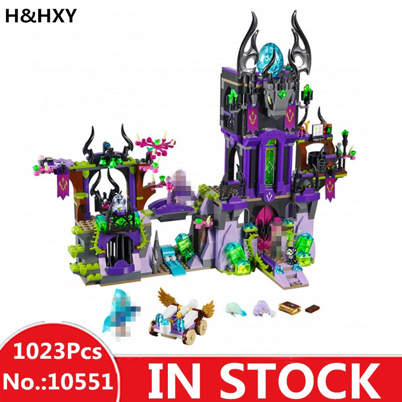 H&HXY 10551 Girl Ragana's Magic Shadow Castle of Gothic Beauty Elves Blocks Bela Set Toys Friends 41180 for girl best gift цена