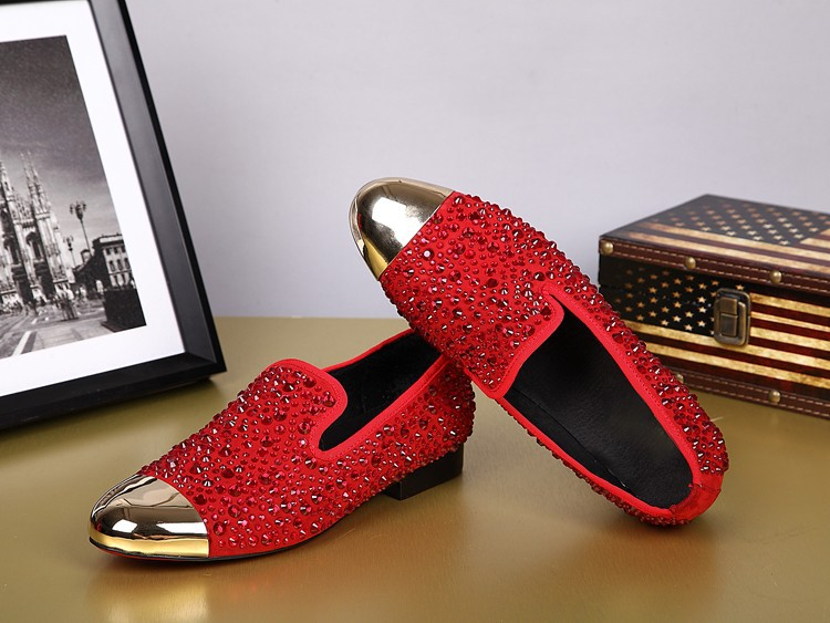 Red dress shoes mens slippers