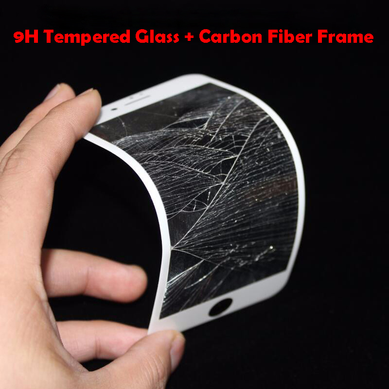 9H 0.26mm Glossy 3D Curved Carbon Fiber Soft Edge Tempered Glass For - Mobile Phone Accessories and Parts - Photo 2