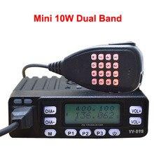2017 walkie-talkie HYS Coche 4 W/10 w Amateur transceptor móvil de banda Dual con 199 Canales móviles Vhf/Uhf de radio Aficionado TC-898UV