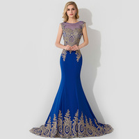 Actual Photos Luxury Sheer Back Long Evening Dresses Elegant Appliques Beading Mermaid Prom Dresses 2015 Robe De Soiree