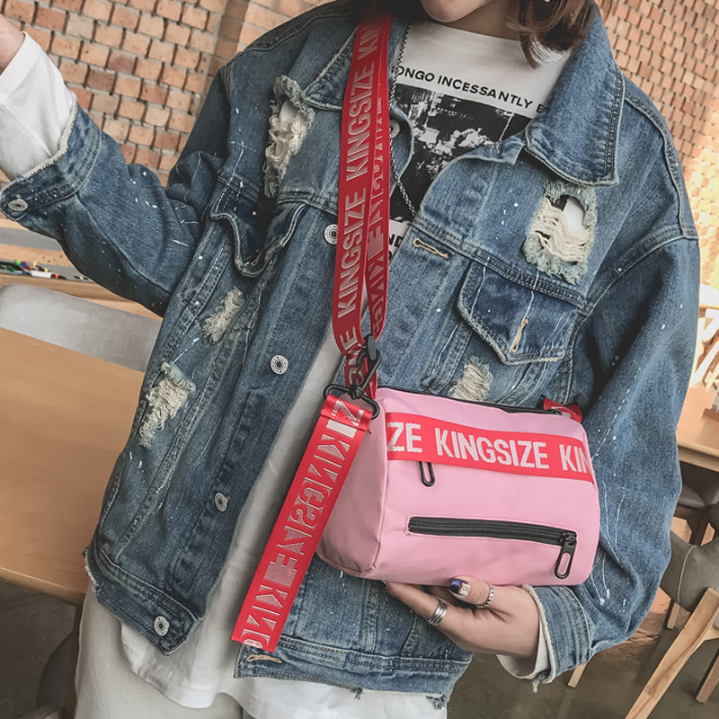 Personality women shoulder bags youth fashion crossbody bags for women letter printed bags ins popular Street girl bag harajuku hip hop men women messenger bags small fashion letter printed shoulder bags street couple oxford crossbody bag