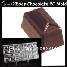 28 Hohlräume Neue Design Fest Polycarbonat Geleeform Süßigkeitform Schokoladenhersteller, süßwaren, formas para schokolade