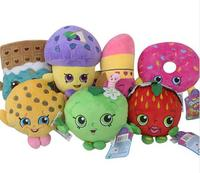7pcs/set 17 25cm Doll Plush Toys Fruit Family Doll Stuffed Toy Strawberry Cookies Donuts Chocolate Muffin Lipstick Gift