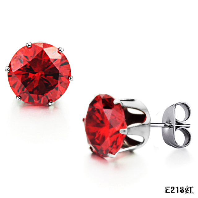 crystal swarovski riam pave siam earrings red drop elements