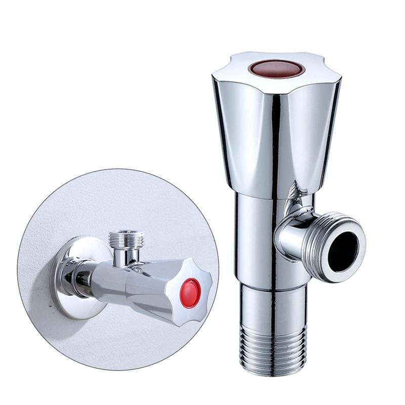 2pcs Pack Bathroom Angle Valves Stainless Steel Thickened Hot Cold Water Shut Off Valve For Toilet Kitchen Bathroom Sink in Faucet Cartridges from Home Improvement